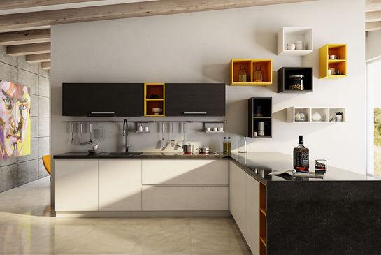 Кухня Капри из шпона ясеня